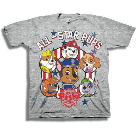 d487d5236 PAW Patrol - Paw Patrol Toddler Boy Flag Americana Stars and Stripes Short  Sleeve Graphic T-Shirt - Walmart.com