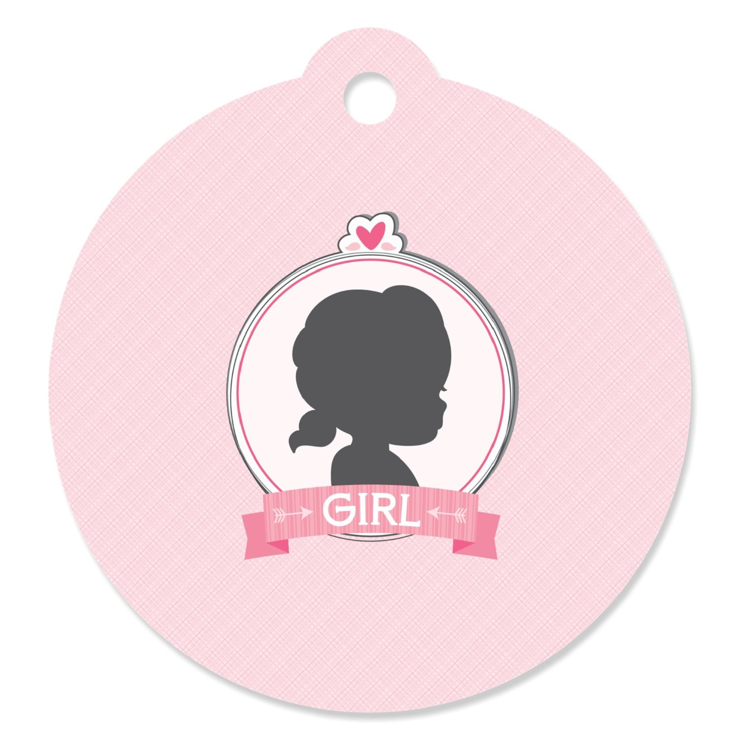 Gender Reveal - Girl - Party Favor Tags (Set of 20)