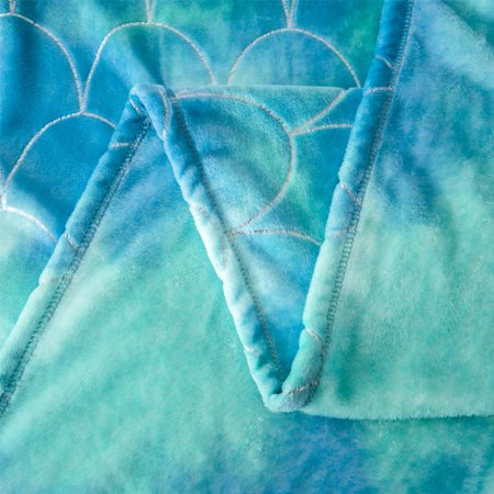 Your Zone Velvet Plush Blanket, 72 x 90 inch, Mermaid