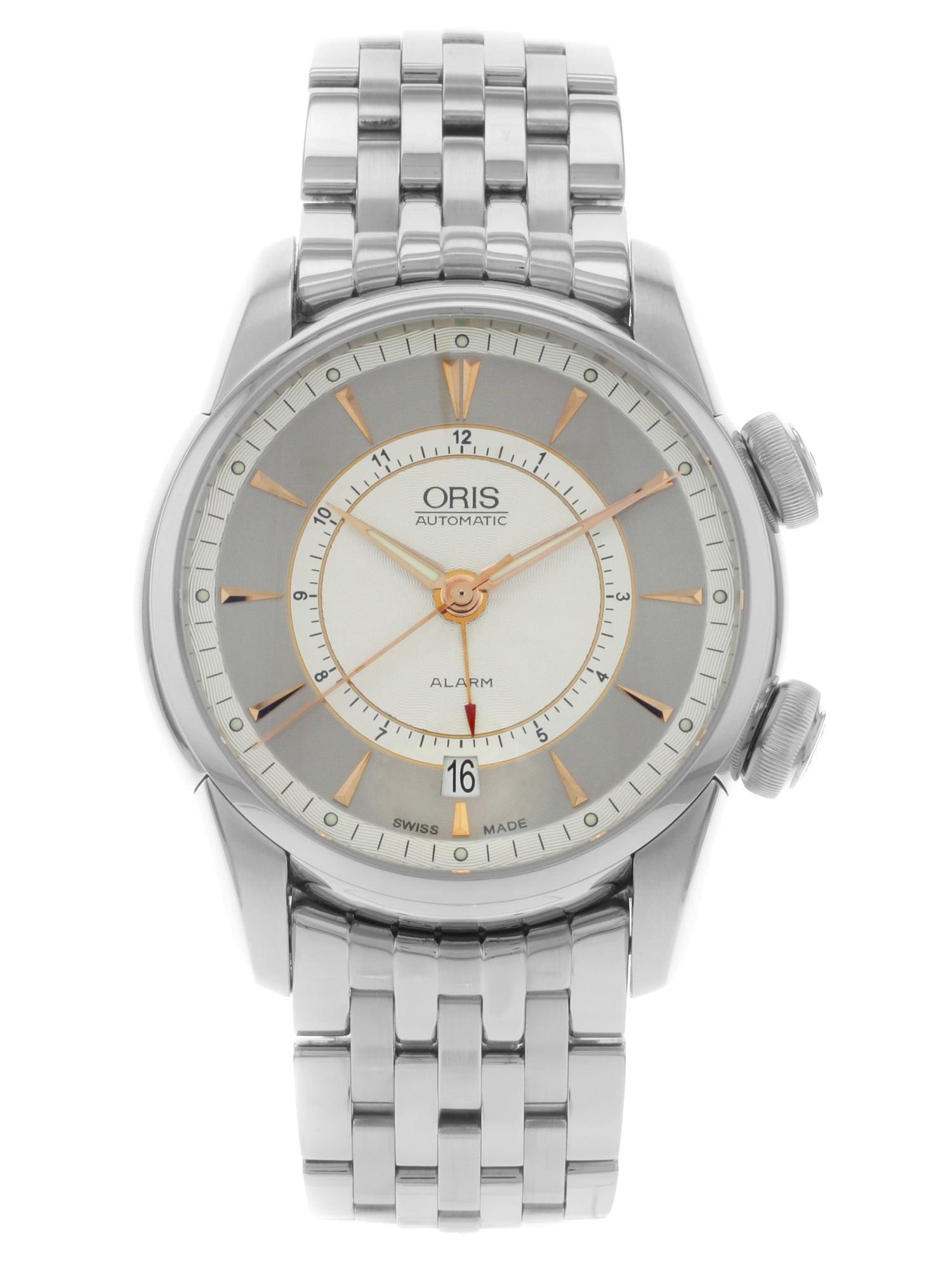 New Oris Artelier Alarm 01 908 7607 4051-Set-MB Stainless Steel Automatic Men's Watch
