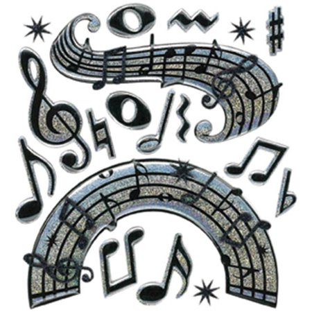 442075  Boutique Dimensional Stickers-Music Notes - image 1 of 1