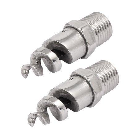 - 1/4BSP Male Thread 316L Stainless Steel Spiral Cone Atomized Nozzle Spray 2pcs