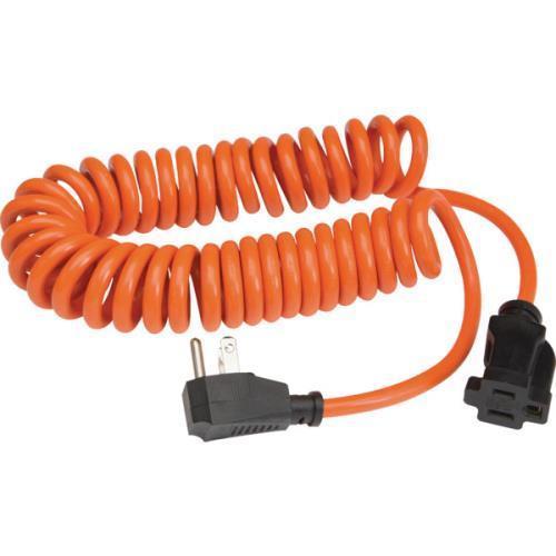 PRIME 10' 16/3 Sjt Orange Coiled Power Cord