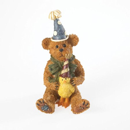 - Boyds Bearstone Collection 4021095 H. B. with Lil' Tweets Birthday Bear and Duck Figurine