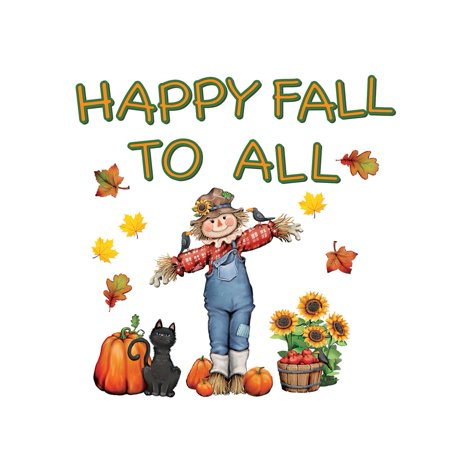 Collections Etc. Fall Garage Door Magnets, Removable Autumn Magnets with Scarecrow, Leaves, Sunflowers, Cat, - Sunflower Scarecrow