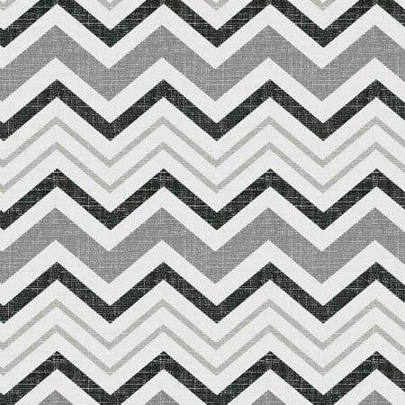 """Waverly Inspirations Cotton Duck 45"""" CHEVRON GREY Fabric, per Yard"""