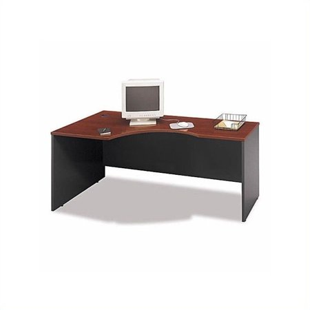 Bush Business Series C Bow Front Left Corner Desk Set in Hansen Cherry - Hansen Cherry Corner Connector