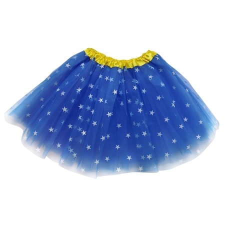So Sydney Adult, Plus, Kids Size SUPERHERO TUTU SKIRT Halloween Costume Dress - Sewn Up Mouth Halloween