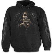 Spiral Direct BONE FINGER Fleece Hoody BlackReaper |Skulls