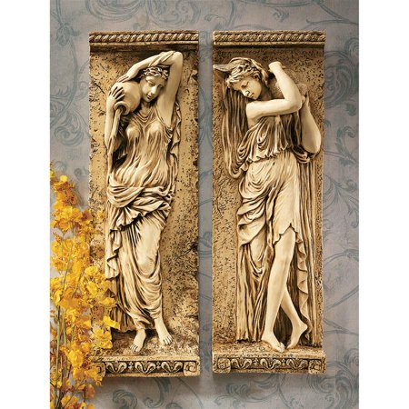 Design Toscano Water Maidens Wall Friezes (Set Includes: Dordogne & Seine)