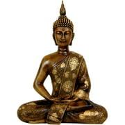"Oriental Furniture 11"" Thai Sitting Buddha Statue, figurine, decorative item, end table item, any occasion"