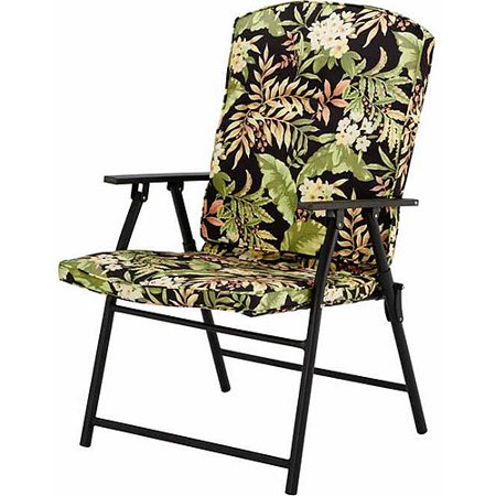 Mainstays Outdoor Padded Folding Chairs Set Of 2 Multiple Colors