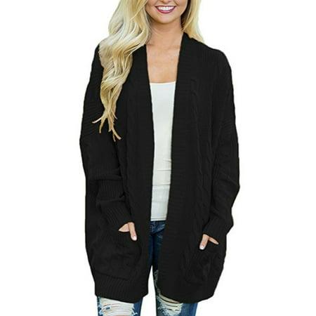 Sleeve Open Front Cardigan - Women Winter Cardigan Long Bat Sleeve Open Front Oversized Sweater Cardigan Outwear Coat