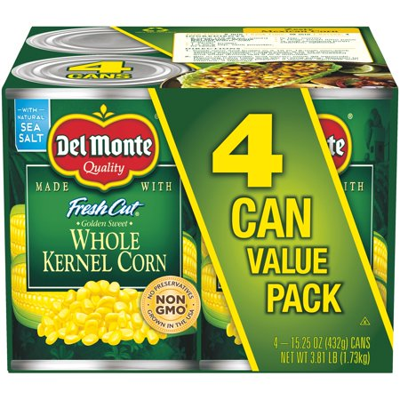 (8 Cans) Del Monte Fresh Cut Golden Sweet Whole Kernel Corn, 15.25