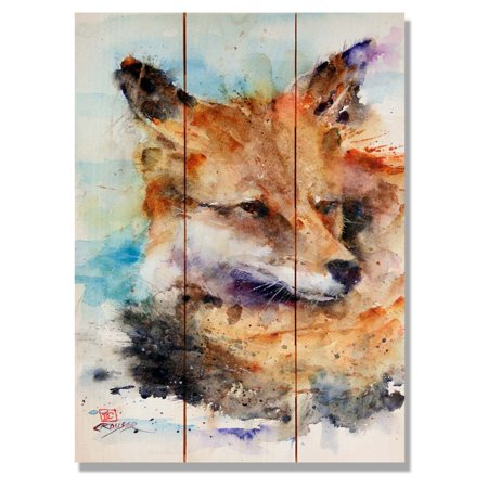 Daydream Fox Indoor/Outdoor Cedar Wall Art