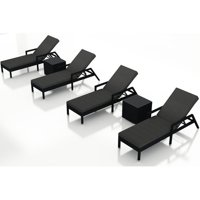 Orren Ellis Azariah Reclining Chaise Lounge with Cushion and Table