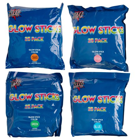 Big Fireworks 100 Glow Sticks Bulk: Emergency Glow Sticks For Survival Kit or Emergency Kit, Glow Sticks Party Pack For Party Supplies