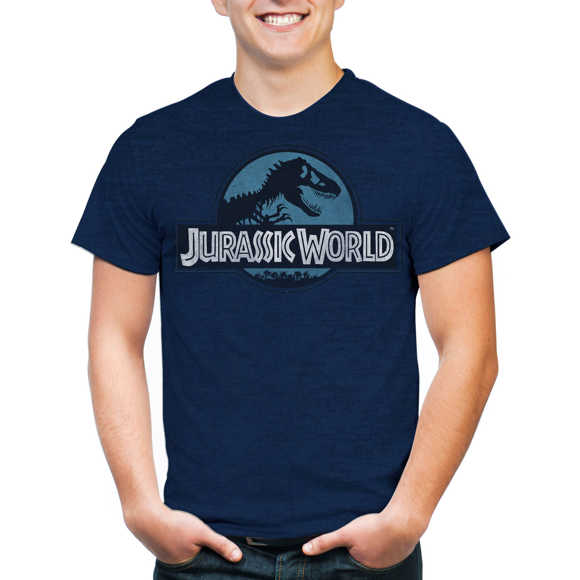 Jurassic World Men's Logo Short Sleeve T-Shirt