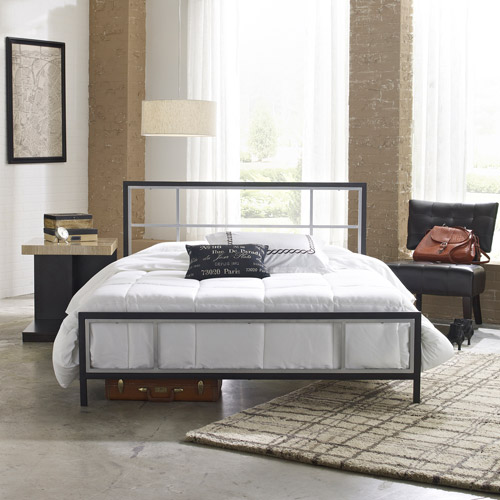 Premier Karina Queen Metal Platform Bed Frame, Black