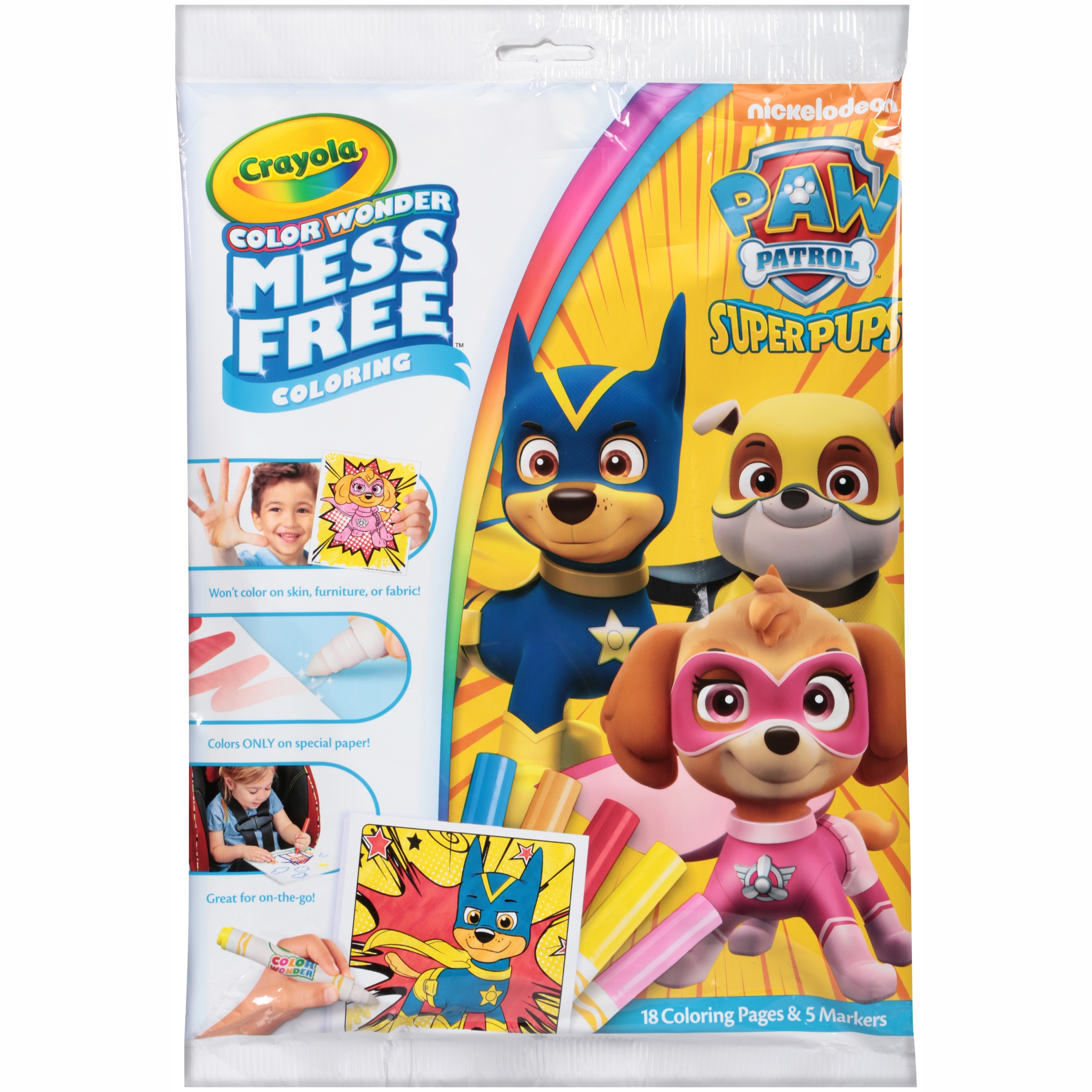 Crayola Nickelodeon Paw Patrol Super Pups Color Wonder Mess Free