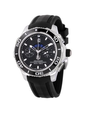 Tag Heuer Aquaracer Black Dial Silicone Strap Men's Watch CAK211AFT8019
