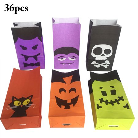 Halloween Paper Candy Bags (Justdolife Halloween Candy Bag Decorative Cat Pumpkin Ghost Vampires Gift Wrap Bag Party Baking Packages Universal Candy Snack Favor)