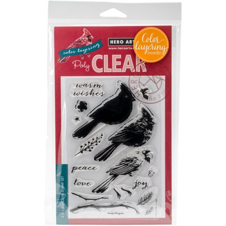 Hero Arts Clear Stamp & Die Combo-Cardinal - Clear Stamps