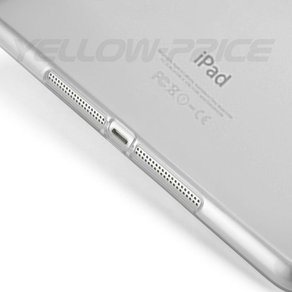 LIVEDITOR For Apple iPad Air 2 Slim Transparent Soft TPU Case Protective Cover+ Matte Film - image 5 de 7