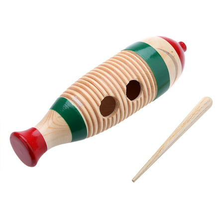 Wooden Guiro Fish-Shaped Colorful Kid Children Musical Toy Percussion Instrument - Fish Shaped Guiro