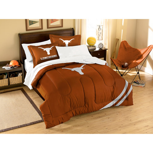 NCAA University Texas Longhorns Comforter Full//Twin Set Sports Patterned Bedding