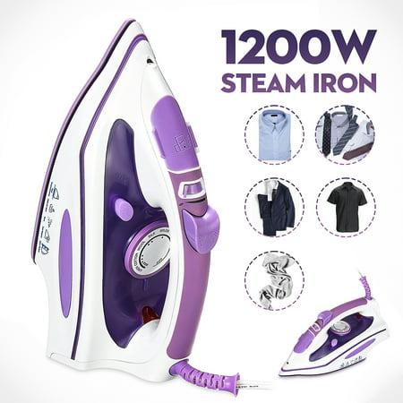110V 1200W Handheld Steam Iron Fabric Steamer Auto Shut Off Temperature Control with 280ml Tank Capacity