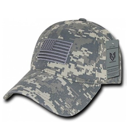 USA American Flag Hat Tonal ACU Camo Patch Relaxed Polo Style Baseball Cap  - Walmart.com 002af9b5ec3