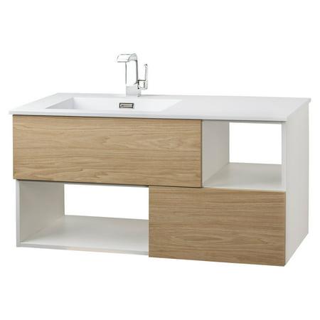 Cutler Kitchen Bath Sangallo 42 In Wall Hung Bathroom Vanity