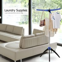 EOTVIA Clothes Tree,Laundry Supplies,Multi Functional Free Standing Folding Garment Clothes Dryer Airer Hanger