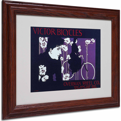 "Trademark Fine Art ""Bike 04"" Matted Framed Art by Vintage Apple Collection, Wood Frame"