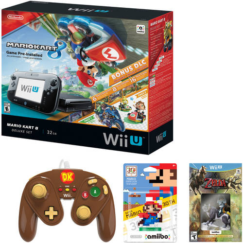 Nintendo Wii U Console Bundle with Bonus Controller, Game and amiibo