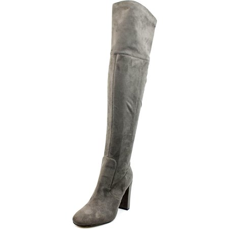 Ivanka Trump Rylee Women  Round Toe Canvas Gray Over The Knee Boot