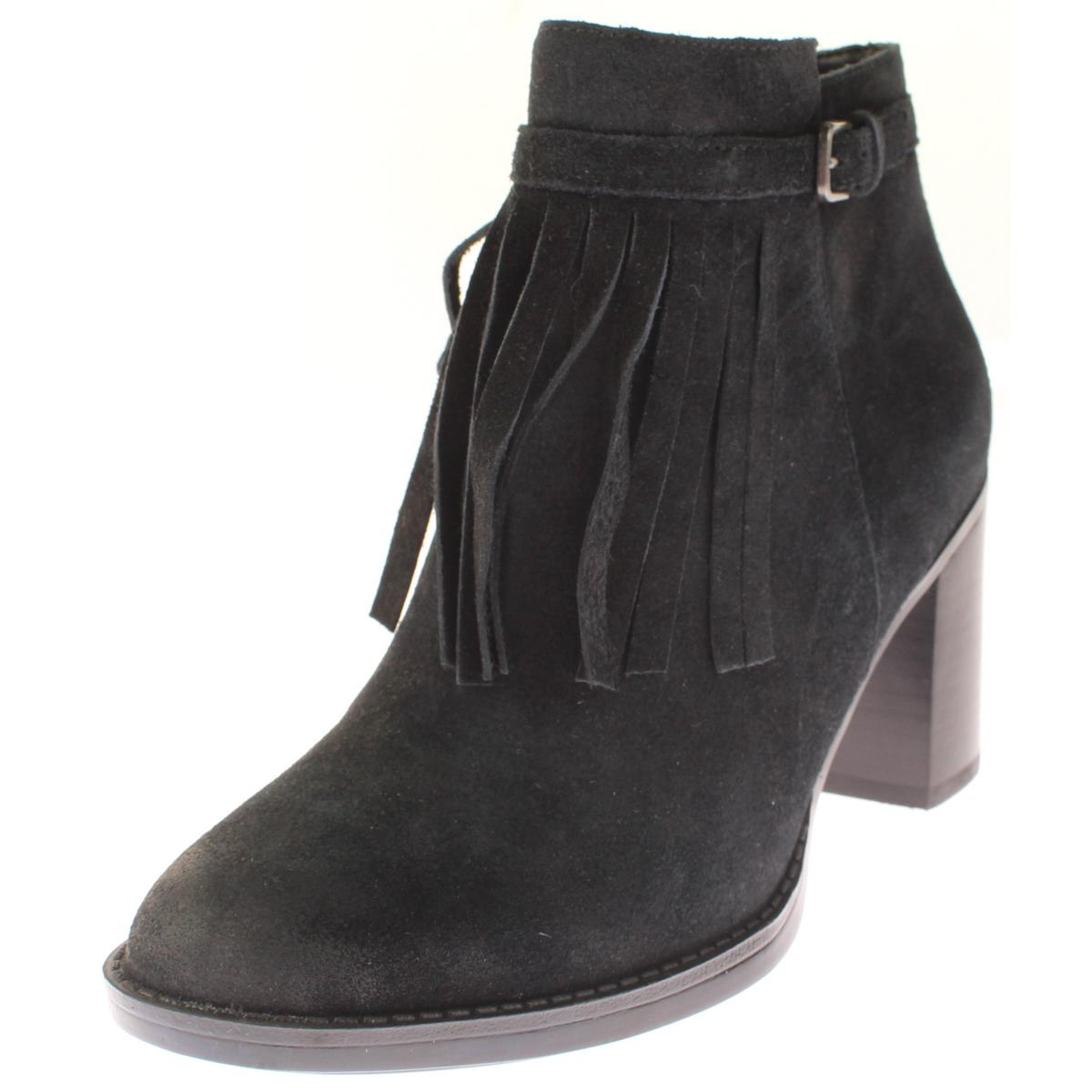 Naturalizer Womens Fortunate Suede Fringe Ankle Boots by Naturalizer