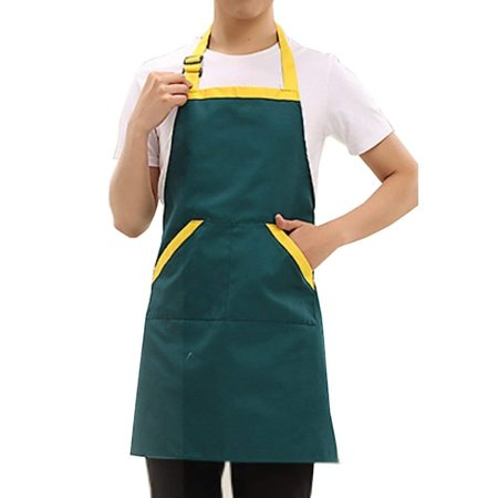 - Novo Waterproof Polyester Cotton Work Chef Graden Tool Apron with Pockets,28-Inchx26-Inch(Green) for Working,Gardening,Kicthen Cooking,Harvest,Coffee Shop
