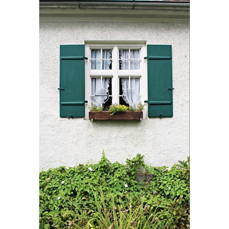 LAMINATED POSTER Window Building Farmhouse Cottage Garden Romantic Poster Print 24 x (Romantic Country Cottages)