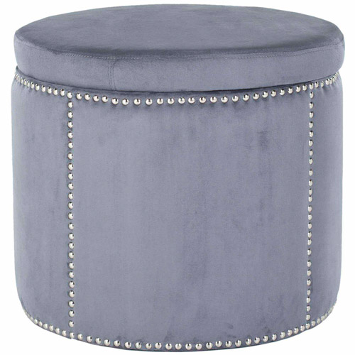 Safavieh Jody Ottoman with Silver Nail Heads