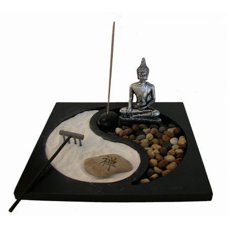 (Desktop Zen Garden with Thai Buddha Statue)