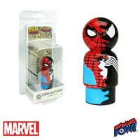 Spider-Man/Venom Dual Identity Marvel Pin Mate #10 Wooden Figure