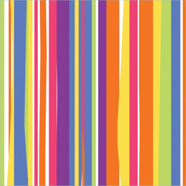 Gift Wrap 5x30 in. -Colorful Stripes