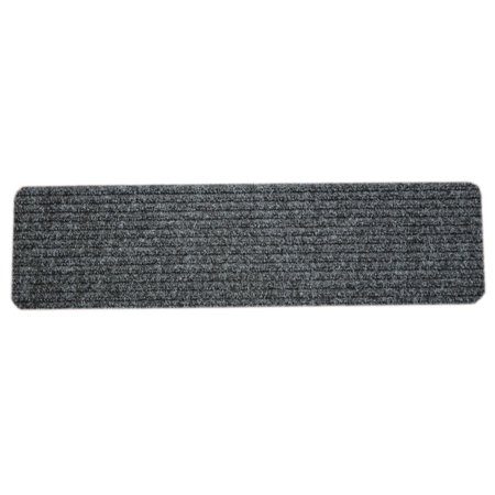 Dean Carpet Stair Treads Runners Mats Step Covers Dark Grey Ribbed 24