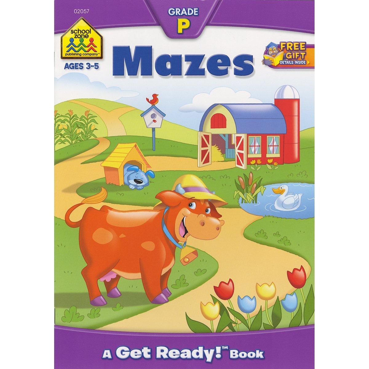 Preschool Workbooks 32 Pages-Mazes by