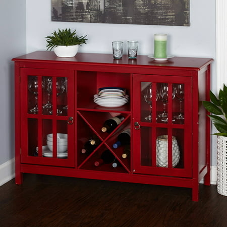 Simple Living Portland Wine Buffet, - Mission Style Wine Cabinet