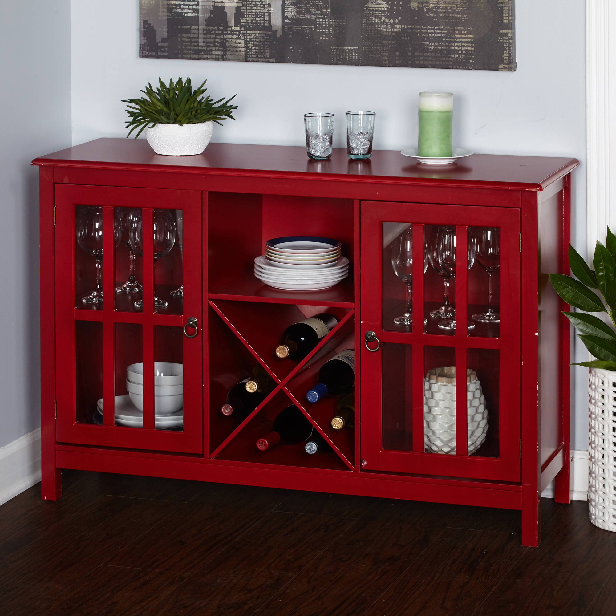 Simple Living Portland Wine Buffet, Red