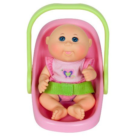 Cabbage Patch Kids Play n Travel Tiny Newborn with Folding Accessories Carrier,