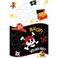 Pirate Plastic Party Tablecloth, 84 x 54in
